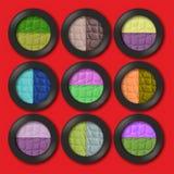 Fards à paupières colorés Photo libre de droits