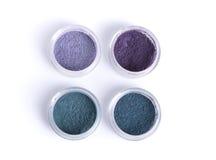 Fards à paupières minéraux dans des couleurs en pastel Photo stock