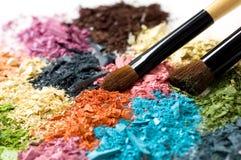 Fards à paupières multicolores Images stock