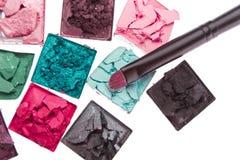 Fards à paupières écrasés multicolores Image libre de droits