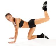 Fare aerobics Immagine Stock Libera da Diritti