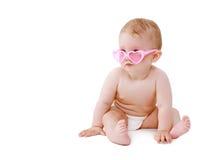 Fare da baby-sitter dolce sveglio in vetri di fascino Fotografia Stock Libera da Diritti