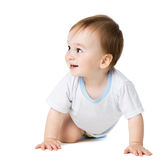 Fare da baby-sitter e guardare lateralmente Fotografia Stock