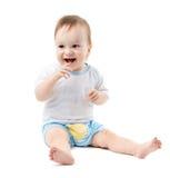 Fare da baby-sitter e ridere Fotografia Stock Libera da Diritti