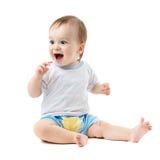 Fare da baby-sitter e ridere Immagine Stock