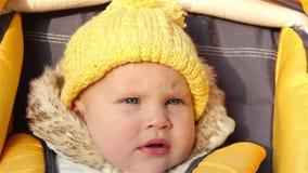 Fare da baby-sitter nella carrozzina stock footage
