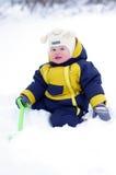 Fare da baby-sitter su neve Fotografia Stock Libera da Diritti