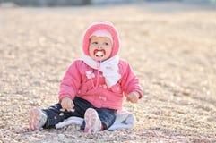 Fare da baby-sitter sul ciottolo Fotografia Stock
