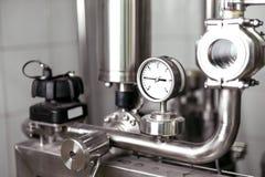 Fare i meccanismi che consistono dei tubi e dei calibri Immagine Stock