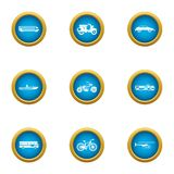 Fare icons set, flat style. Fare icons set. Flat set of 9 fare vector icons for web isolated on white background royalty free illustration