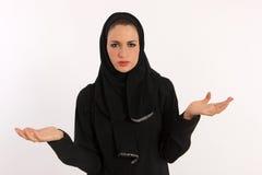 Fare il broncio arabo della donna Fotografia Stock Libera da Diritti