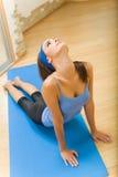 fare la donna di forma fisica di esercitazioni Fotografia Stock Libera da Diritti