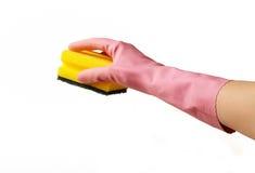 Fare lavori domestici, pulenti Fotografia Stock