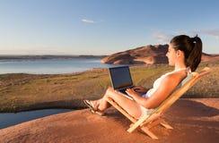 Fare lavoro nel lago Powell Immagini Stock