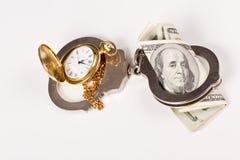 Fare tempo per soldi Fotografie Stock Libere da Diritti