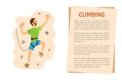 _fare un'escursione o sporgere parete, scalare vettore illustrazione vettoriale
