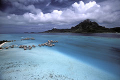 Fare Web. Bora Bora Island - French Polynesia Royalty Free Stock Photo