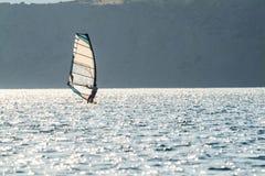 6 fare windsurf Immagine Stock Libera da Diritti