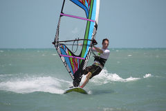 Fare windsurf Fotografia Stock