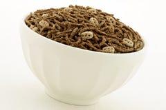 Farelo de trigo e pequeno almoço do cereal do linho Fotografia de Stock