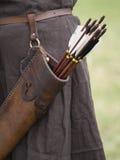 Faretra e frecce Fotografie Stock