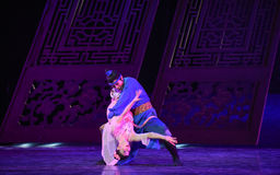 """Farewell bros-Dance drama """"The Dream of Maritime Silk Road"""". Dance drama """"The Dream of Maritime Silk Road"""" centers on the plot of two generations Stock Photos"""