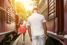 Farewell forever : Last love couple farewell Royalty Free Stock Images
