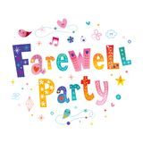 Farewell party decorative lettering. Banner Stock Photo