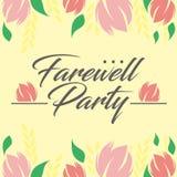 Farewell Party Illustration Vector Art Logo Template and Illustration. Simple and unique Farewell Party Illustration for various purposes, for best use Royalty Free Stock Photos