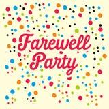 Farewell Party Illustration Vector Art Logo Template and Illustration. Simple and unique Farewell Party Illustration for various purposes, for best use Stock Photography