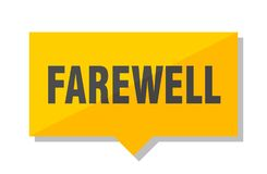 Farewell price tag. Farewell yellow square price tag Royalty Free Stock Photography