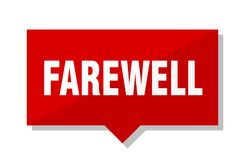 Farewell price tag. Farewell red square price tag Royalty Free Stock Photography