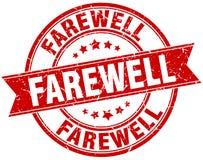 Farewell round grunge stamp. Farewell round grunge ribbon stamp Royalty Free Stock Photo