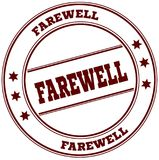 FAREWELL simple red stamp. Illustration graphic concept Stock Photography