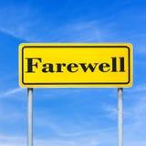 Farewell street sign Stock Image