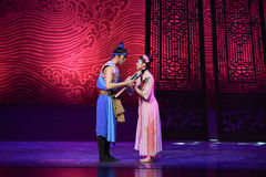"""Farewell to love-Dance drama """"The Dream of Maritime Silk Road"""" Royalty Free Stock Photo"""