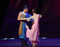 """Farewell to love-Dance drama """"The Dream of Maritime Silk Road"""". Dance drama """"The Dream of Maritime Silk Road"""" centers on the plot of two royalty free stock photography"""