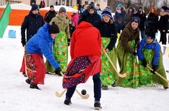 Farewell to winter.Carnival. The picture celebrating the end of winter in Kandalaksha Stock Photography