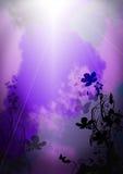 Farfalla al cielo fotografie stock libere da diritti