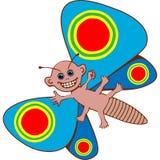 Farfalla antropoide Fotografie Stock Libere da Diritti