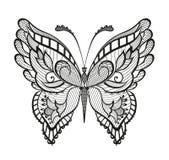 Farfalla astratta ornata Immagine Stock