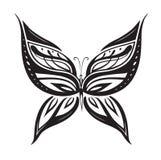 Farfalla astratta ornata della siluetta Immagine Stock