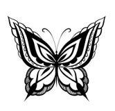 Farfalla astratta ornata della siluetta Fotografie Stock Libere da Diritti