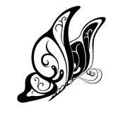 Farfalla astratta ornata della siluetta Fotografia Stock Libera da Diritti