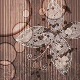 Farfalla astratta su grunge Immagine Stock Libera da Diritti