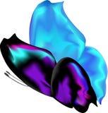 Farfalla blu con le ali socchiuse Immagine Stock