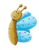 Farfalla blu sorridente illustrazione di stock