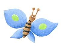Farfalla blu sveglia Fotografia Stock Libera da Diritti