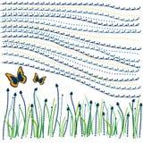 farfalla con la priorità bassa di figure   Fotografia Stock Libera da Diritti