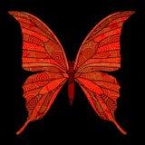 Farfalla con le spirali dorate Fotografie Stock